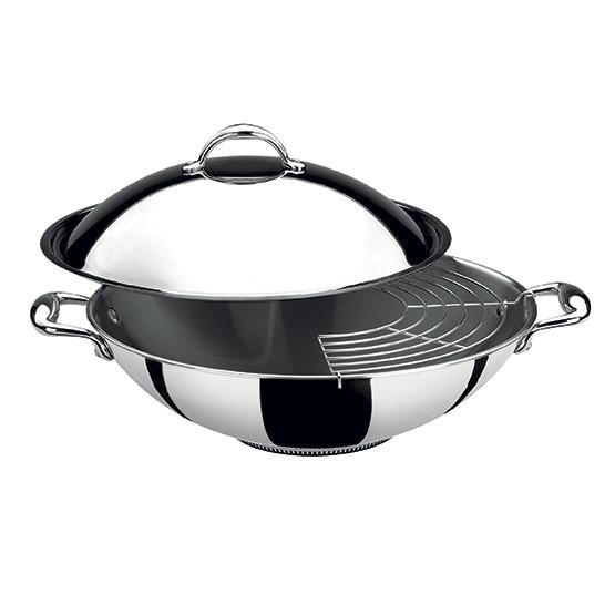 accademia lagofusion wok avec couvercle lagostina france. Black Bedroom Furniture Sets. Home Design Ideas